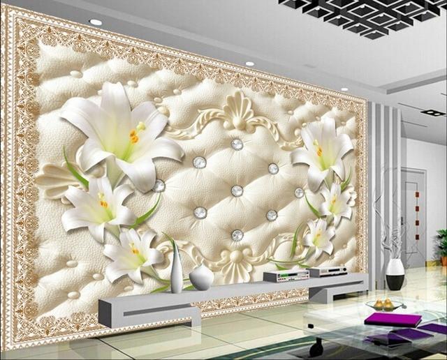 Carta Da Parati Per Soggiorno Classico : D murales carta da parati per soggiorno d fiore di giglio sfondi