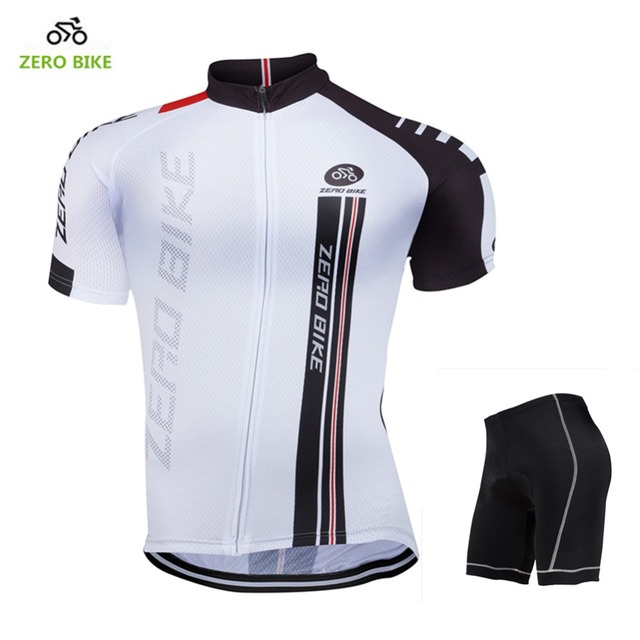 8f6958e0b ZERO BIKE 2017 Summer Men s Cycling Clothing MTB Bicycle Breathable Cycling  Jersey White Short Sleeve Shorts M-XXL