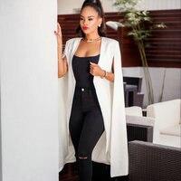 2018 Fashion Blazer Cape Coats Long Solid Cloak OL Blazer Jackets Popular Black Cape Blazers Personality Woman Suit Jackets