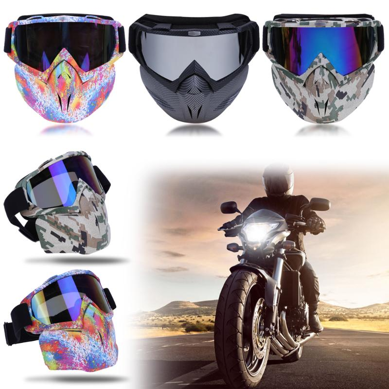 Flexible MTB Bike Goggle Face Mask Outdoor Sport Skiing Cycling Eye Protector Harley Style Bicycle Motorcycle Glasse Eyewear