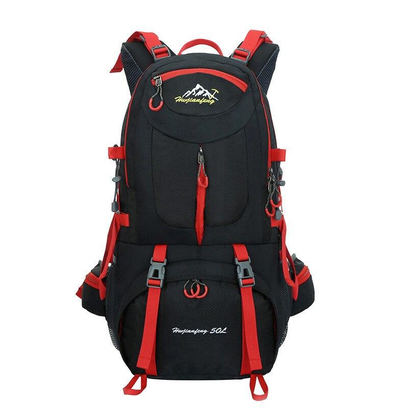 Sac de sport de plein air 50L sac à dos de randonnée camping sport sac à dos homme femmes escalade nylon imperméable sacs à dos couverture de pluie