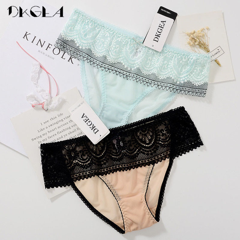 2fa1e9e6bd1 Fashion Comfort Sexy Panties Women Underwear Lace Embroidery Flowers Briefs  Transparent Plus Size XL Panty 2