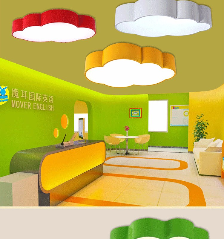 LED Cloud kids room lighting children ceiling lamp Baby ceiling light with yellow blue red white color for boys girls bedroom fixtures_02