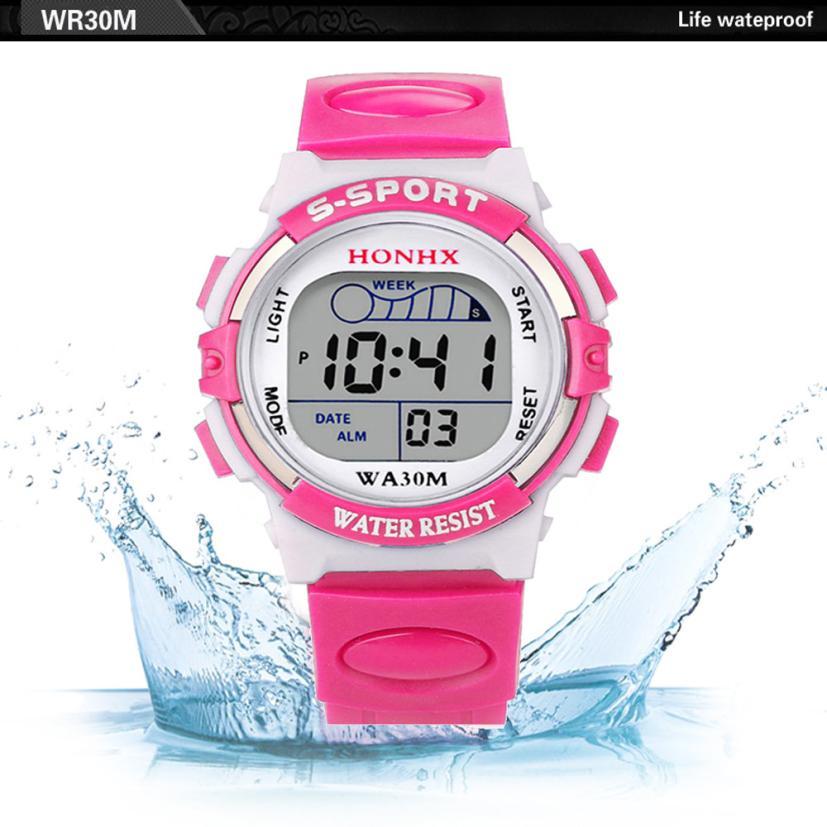 Waterproof Children Sport Watch Boy Digital Led Quartz Alarm Date Sports Wrist Watch Relogio Infantil Relogio Menino Hot Sale #6