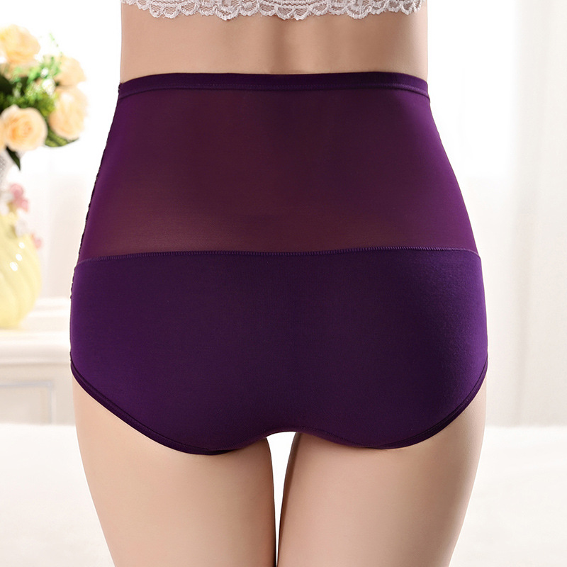 16 color Women Cotton Lingeries High Waist Breathable Panties Underwear Female Sexy Lace Briefs Body Shaping Underpant