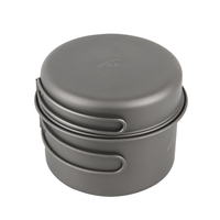 Ultralight Titanium Pan Outdoor Cookware Camping Pot Folding Tableware Enhancing The Body Resistance