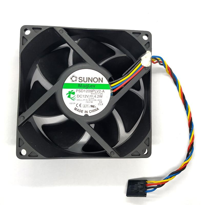 SUNON  90*92*32MM 12V 4.2W PSD1209PLV2-A  4Pin Cooling Fan