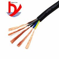 18 AWG 0.75MM2 RVV 2/3/4/5/6/7/8/10/12/14/16/18 ядер шпильки Медный провод электрический кабель RVV черного цвета