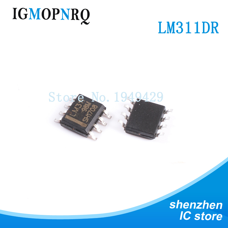 10PCS LM311DR SOP8 LM311 LM311D comparator Differential w/St