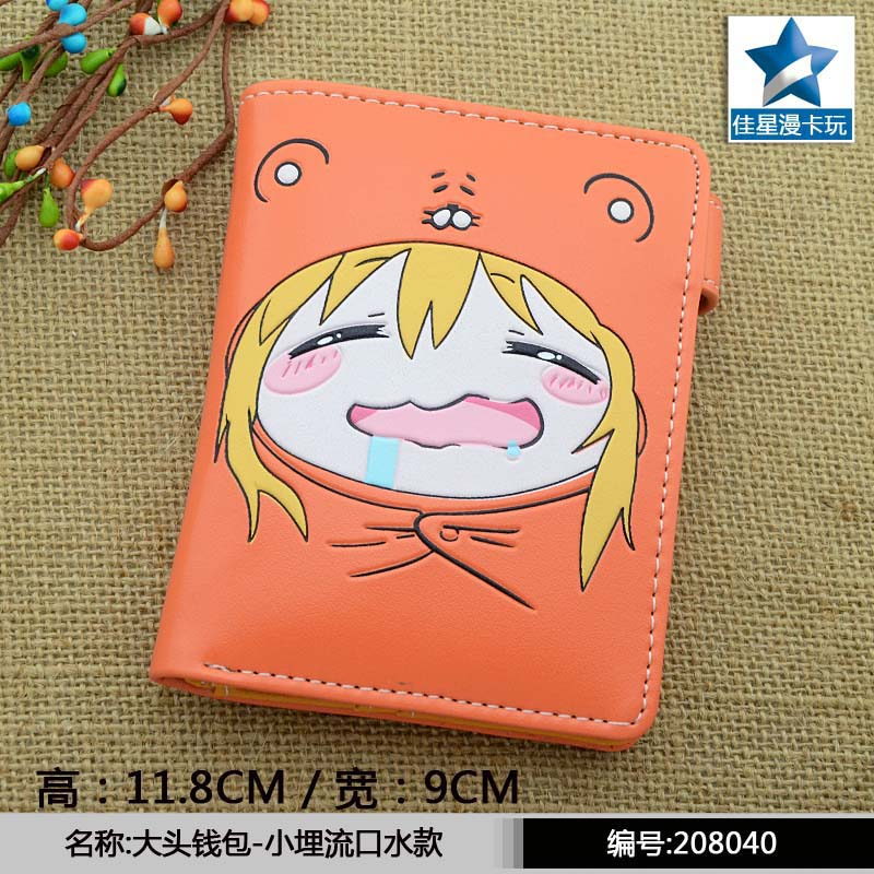 Anime PU Short Yellow Purse Button Wallet Printed with Doma Umaru of Himouto! Umaru-chan moana maui high quality pu short wallet purse with button