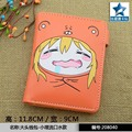 Anime PU Short Yellow Purse Button Wallet Printed with Doma Umaru of Himouto! Umaru-chan