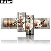 Zhui Star 5D DIY Full Square Diamond Painting Orchid Floral Multi Picture Combination 3D Embroidery Cross