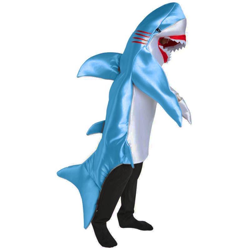 Adult children Attack blue silver Shark Costume Party Mascot animal Costume Jumpsuit Halloween Fancy Dress rompers men kid-in Boys Costumes from Novelty ...  sc 1 st  AliExpress.com & Adult children Attack blue silver Shark Costume Party Mascot animal ...