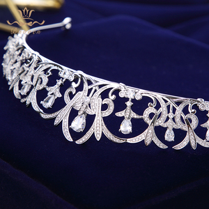 Image 4 - Bavoen Sparkling Zircon Bridal Tiaras Crowns Leaves Bridal Headbands Crystal Wedding Hair Accessories Evening Hair Jewelry