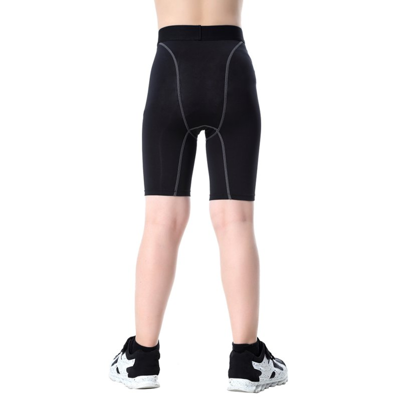 Kids Boys Compression Base Layer Pantalones cortos Piel Deporte Usar Fitness Medias