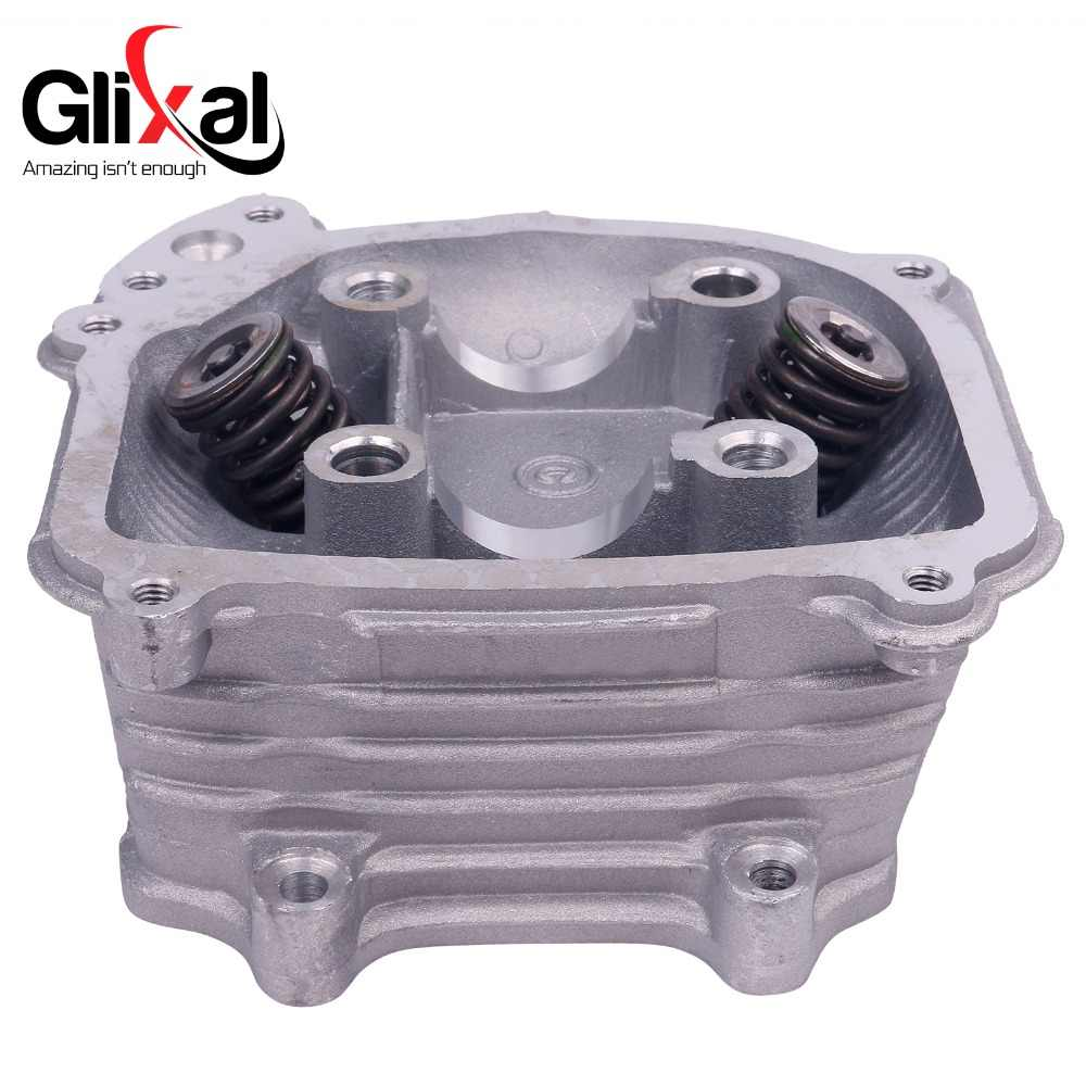 Glixal GY6 125cc Chinese Scooter Engine 52 4mm EGR Cylinder Head Assy with  Valves for 4T 152QMI ATV Go Kart Buggy Moped Quad