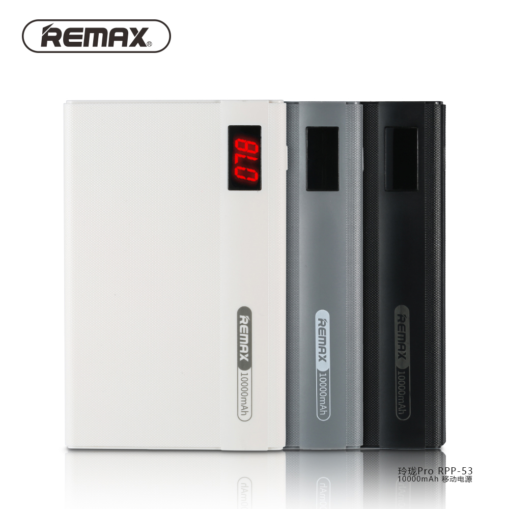 Remax 10000mAh Dual USB Power Bank External Battery with LCD Indicator  powerBank Fast Charging For iPhone 5 6 7 plus For Samsung e697374e4a
