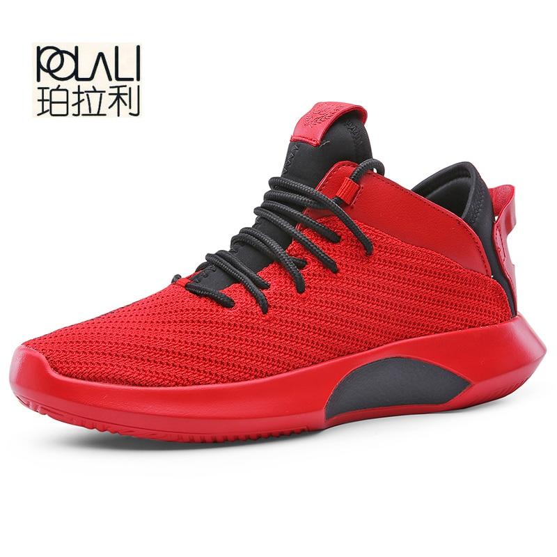 Loisirs Souple Nouvellement rouge Mode Étudiant Sneakers Synthétique blanc Légèreté 2018 Homme Polali Hommes Automne Chaussures Maille Casual Noir gris 4IBz1qnwfx
