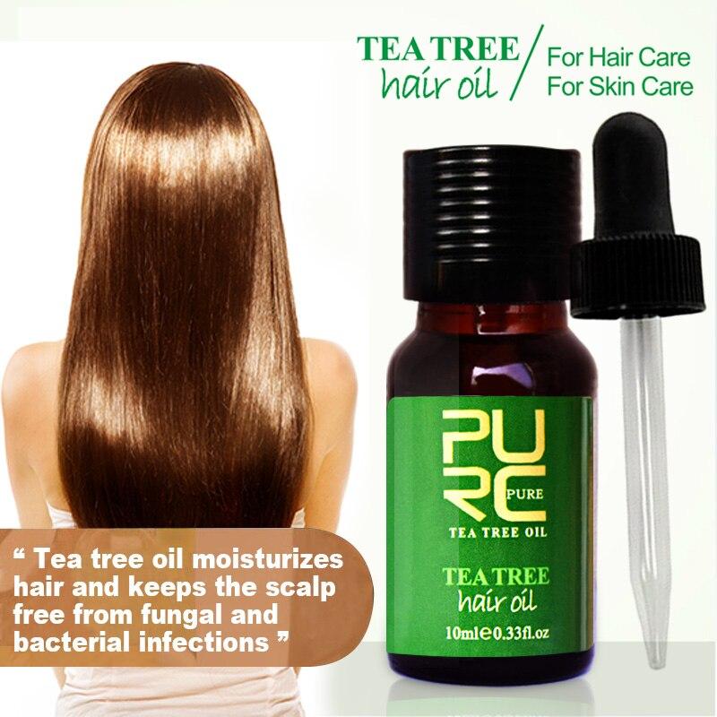 New 100% Pure Tea Tree Hair Oils Hair Care And Protects Dry Damaged Hair Repair & Scalp Treatment Essential Oils Hair Mask Purc