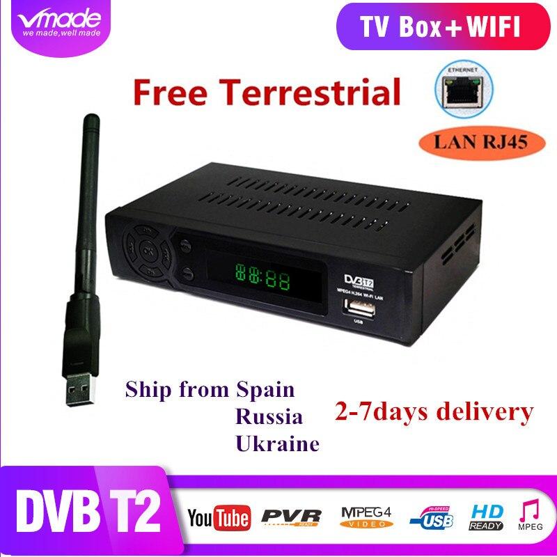 DVB T2 8939 + USB WIFI H.264 FULL HD 1080 p MPEG2 in terrestrischen receiver DVB T2 tv tuner box set top boxen Band netzwerk interface
