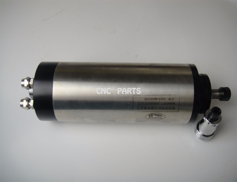 ER11 diameter 80mm 220V 1.5KW water cooling spindle motor 4 bearing for cnc router 1 5kw water cooling spindle motor 80mm 220v er11 grind motor with 3 bearing