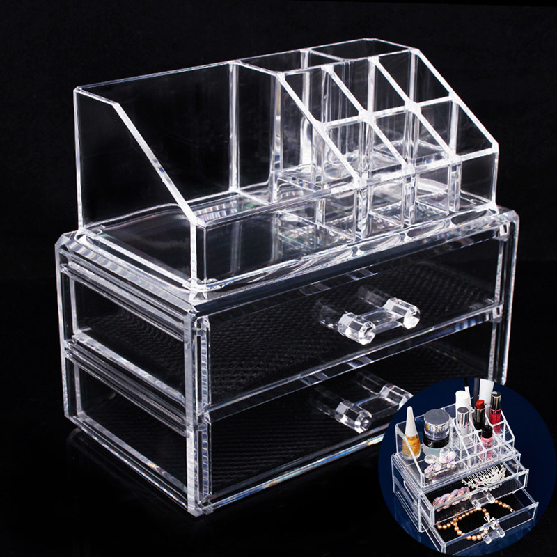 Acrylic Makeup Organizer Cosmetic Organizer Makeup Storage Box Brush Holder Maquillage Jewelry Storage Drawers & Clear Acrylic Makeup Storage Case Nail Polish Rack Lipstick Cosmetic ...