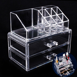 Acrylic Makeup Organizer Cosmetic Organizer Makeup Storage Box Brush Holder Maquillage Jewelry Storage Drawers