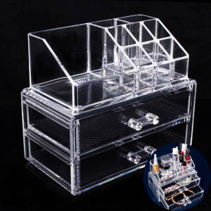 Brush-Holder Makeup-Organizer Drawers Jewelry Storage Acrylic Maquillage