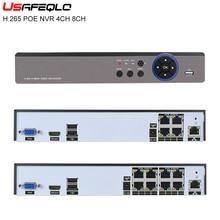 CCTV NVR Poe-Nvr Video-Security Remote-View Surveillance 4CH Play Onvif H.265 1080P 8CH