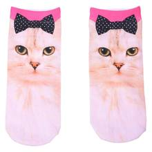 NEW 1 Pair Fashion Men Women Casual Low Cut Ankle Socks Cotton 3D Printed Animals NO.6(China)