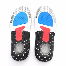 купить Sport Running Silicone Gel Insoles Foot Care Orthopedic Insoles Fascitis Plantar Heel Sports Shoes Pads For Men Camping Hiking дешево