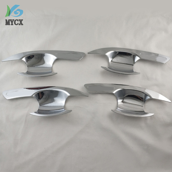 Chrome door handle cover bowl insert for Mitsubishi xpander 2017 2018 car styling door protectors accessories for xpander image