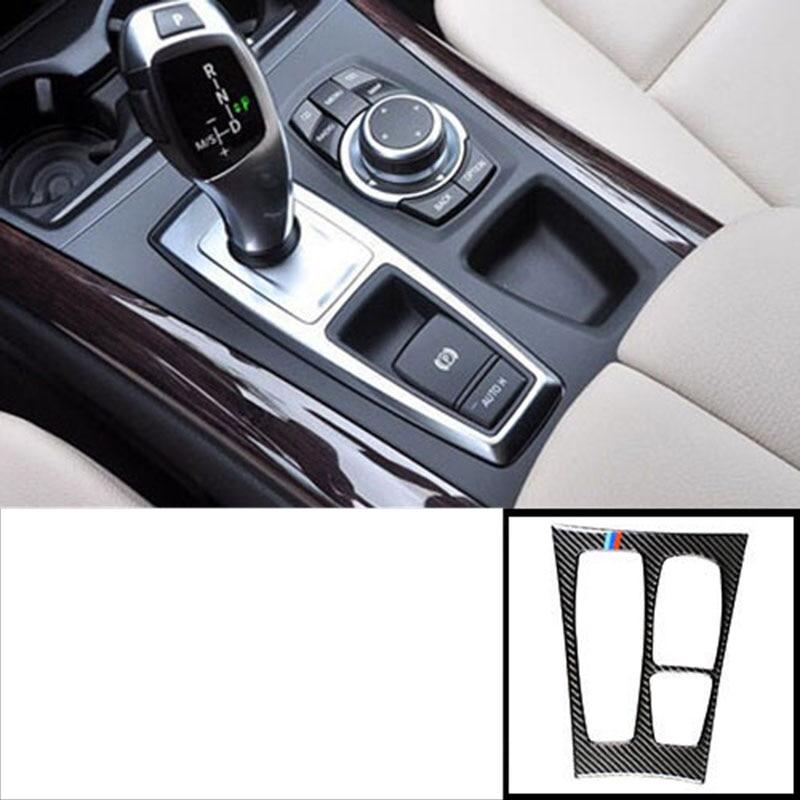 Lsrtw2017 de voiture de fibre de carbone de panneau de contrôle du garnitures pour bmw x5 x6 E70 E71 2006 2007 2008 2009 2010 2011 2012 2013