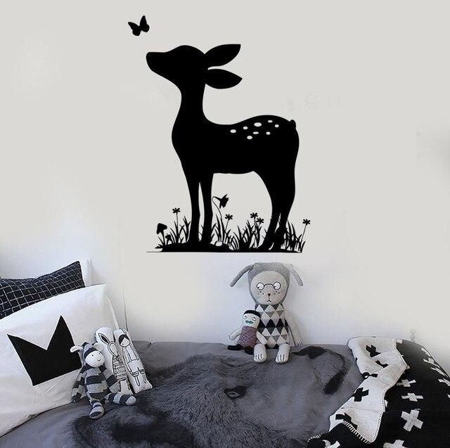 fawn deer wall decal kids bedroom vinyl nursery wall stickers for