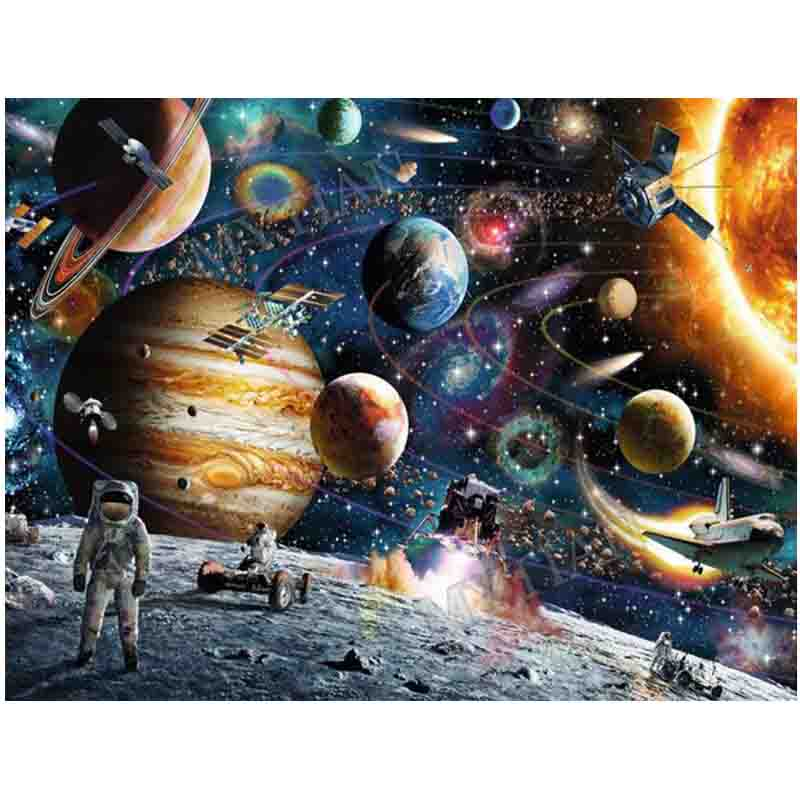 5D DIY Diamond Painting Outer Space View Handmade Full drill resin 3d Picture Rhinestones Diamond Embroidery pattern mosaic arts image