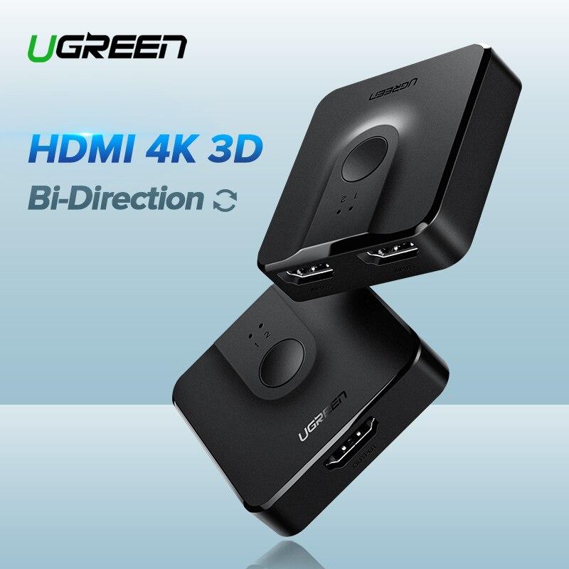 Ugreen HDMI Interruttore Bi-Direzione 4 K HDMI Switcher 2 in 1 out HDMI Splitter 1x2/ 2x1 Adattatore del Convertitore per PS4/3 TV BoxUgreen HDMI Interruttore Bi-Direzione 4 K HDMI Switcher 2 in 1 out HDMI Splitter 1x2/ 2x1 Adattatore del Convertitore per PS4/3 TV Box