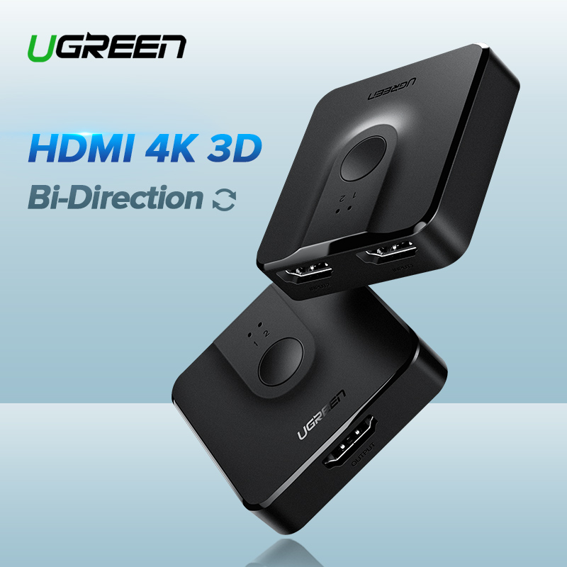 Ugreen HDMI Switch Bi-Direction 4K HDMI Switcher 2 in 1 out HDMI Splitter 1x2/2x1 Adapter out Converter for PS4/3 TV BoxUgreen HDMI Switch Bi-Direction 4K HDMI Switcher 2 in 1 out HDMI Splitter 1x2/2x1 Adapter out Converter for PS4/3 TV Box
