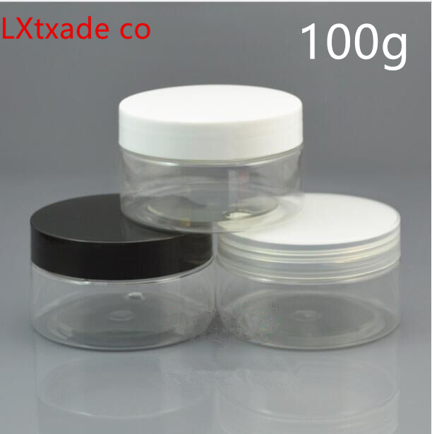 Free Shipping 100g Ml Clear Lucency Plastic Bottles Jar