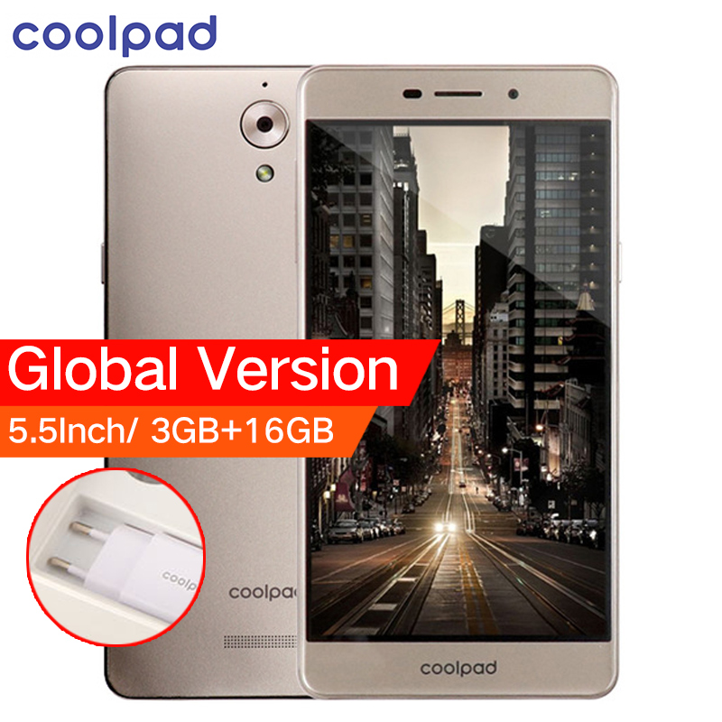Первоначально Глобальный Версия Coolpad E502 4 г LTE мобильный телефон 5,5 дюймов 3 ГБ Оперативная память 16 ГБ Встроенная память MTK 4 ядра dual SIM карты д...