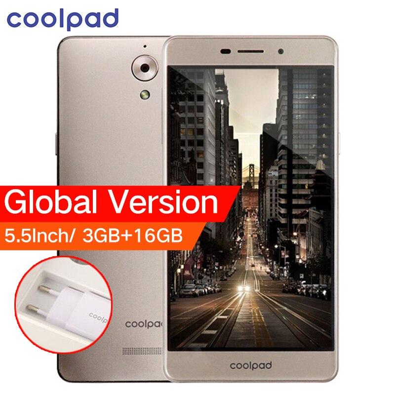 D'origine Mondial Version Coolpad E502 4G LTE Mobile Téléphone 5.5 pouce 3 GB RAM 16 GB ROM MTK Quad Core Double Cartes SIM Android 6.0