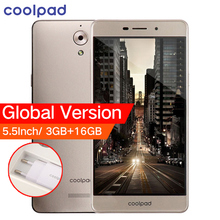 D'origine Mondial Version Coolpad E502 4G LTE Mobile Téléphone 5.5 pouce 3 GB RAM 16 GB ROM MTK Quad Core Double Cartes SIM Android 6.0