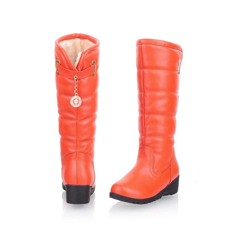 Donna Winter scarpe Fashion Waterproof Knee High Faux Fur snow stivali