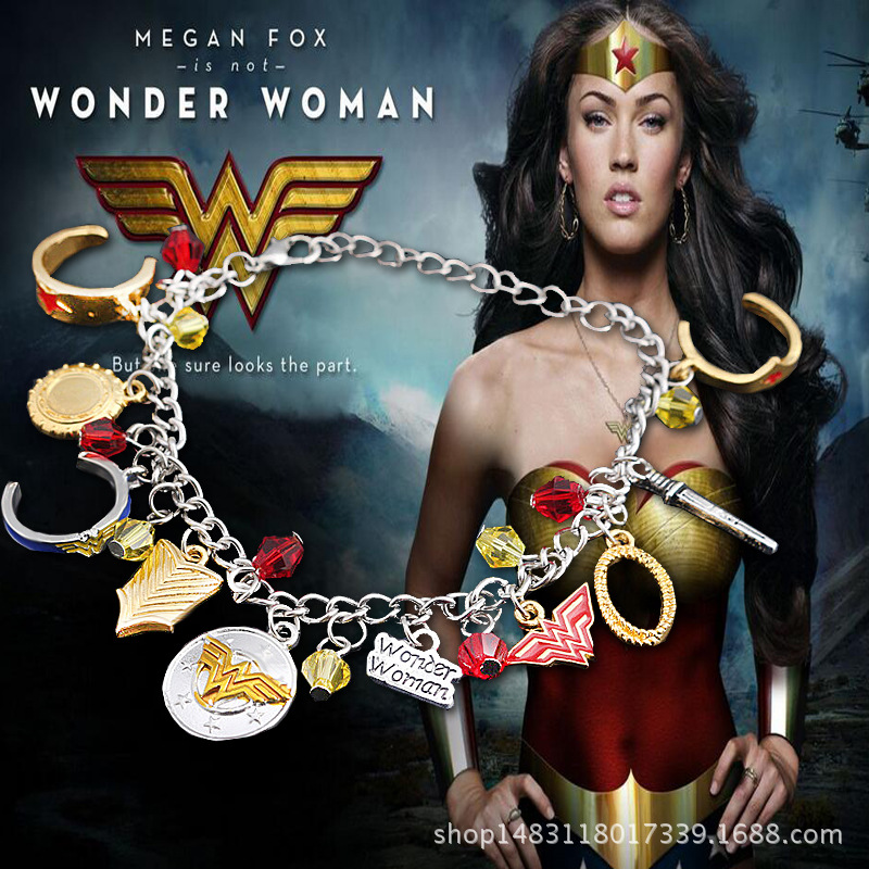 Diana Bracelet Logo Pendants Combination Halloween Superhero Cosplay Accessory New Year Holiday Birthday New Year Gift