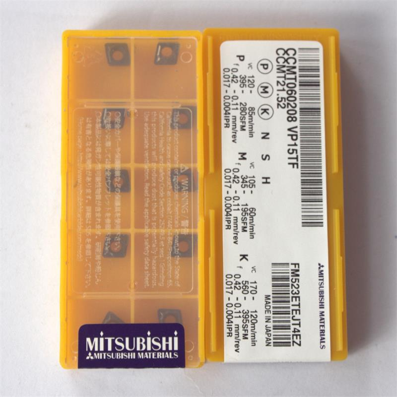 NEW ORIGINAL MITSUBISI CCMT060208 VP15TF CCMT21.5 CARBIDE INSERTS