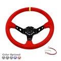 OTO R-14inch 350mm  Suede Leather deep Corn Drifting Steering Wheel/Racing Steering Wheels
