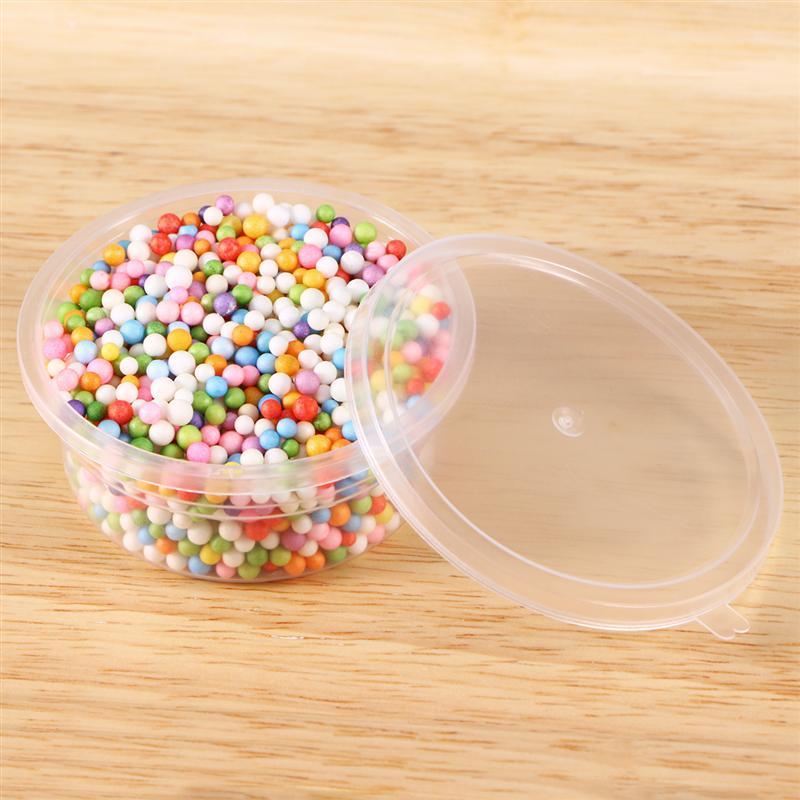 12 упаковок слизи контейнеры для хранения пены мяч контейнеры с крышками для 20 г Слим