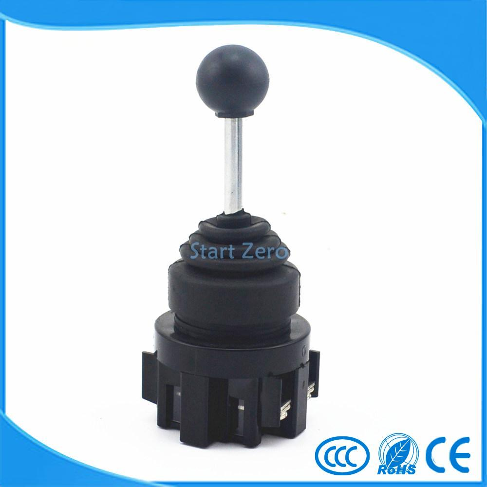 2NO Two Position Self-locking Type Monolever Joystick Switch Cross Button Switches  CS-2011 tn2ss rotary button switch gear selection type 2 22mm with self locking