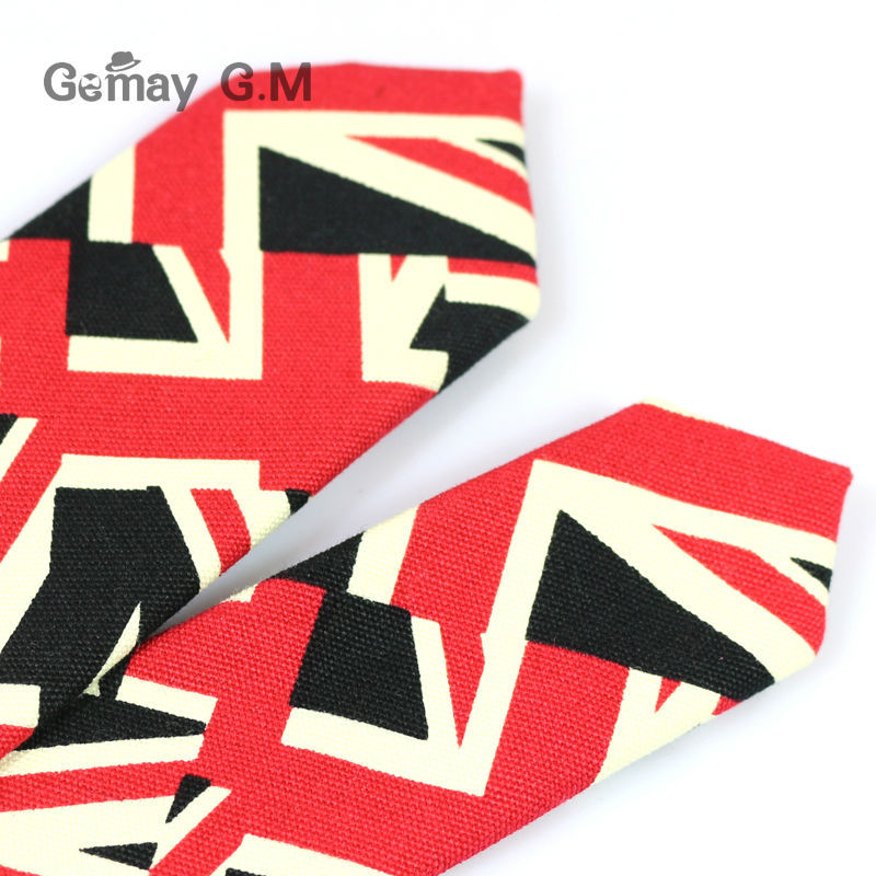 New Floral Print Linnen and Cotton Skinny Ties for Men 5.5 width Goom Slim Neckties High Quality Adult Neck Tie Free Shipping