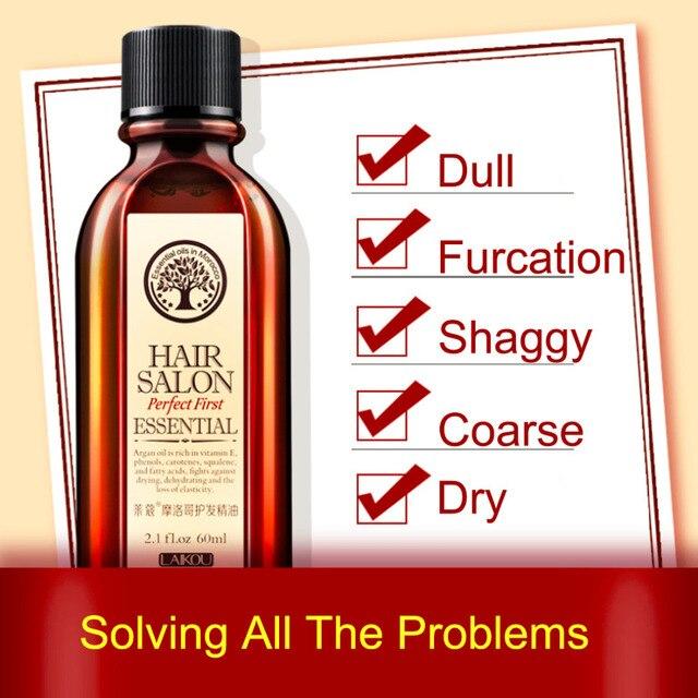 60ml Morocco Argan Oil Haircare Essential Oil Nourish Scalp Repair Dry Damage Hair Treatment Glycerol Nut Oil Hairdressing 3