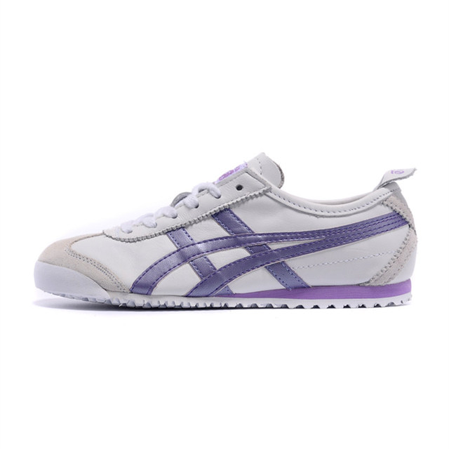 1f2b1024450a 2018 ONITSUKA TIGER Women Shoes White Purple Tiger Claw MEXICO 66 Leather  Anti-Slippery Breathable